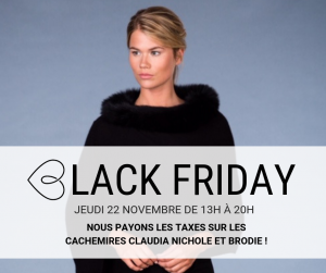 Black Friday au Boudoir